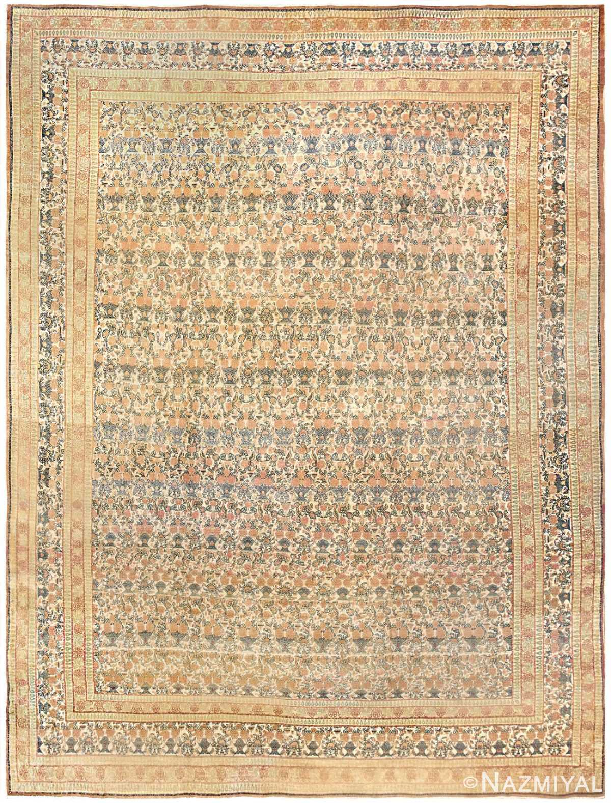 Antique Persian Tehran Carpet 50189 Nazmiyal