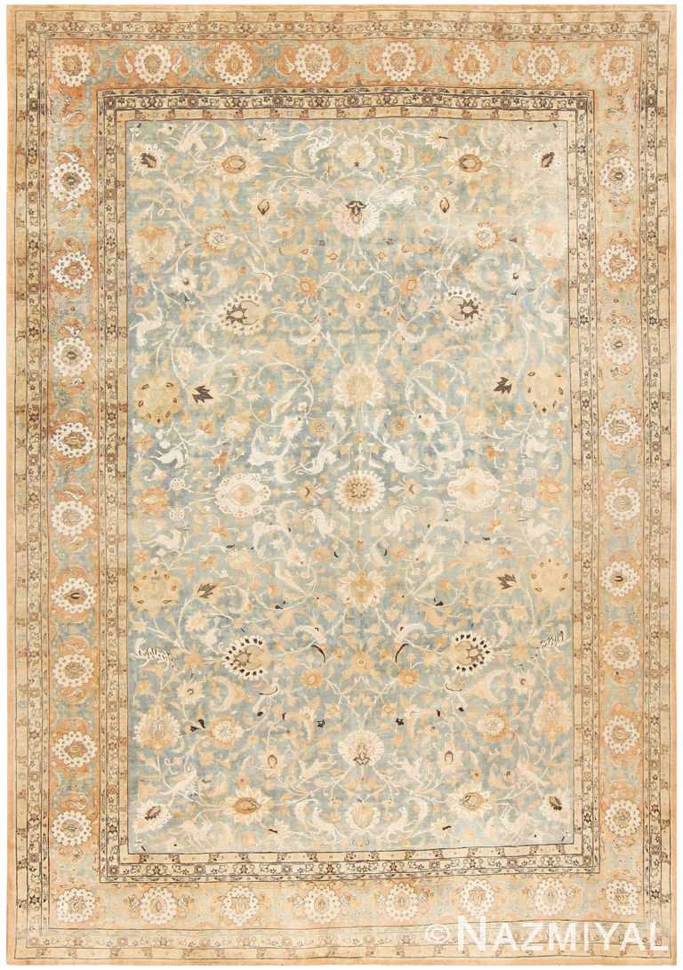 Light Blue Antique Persian Tehran Rug 48249 by nazmiyal