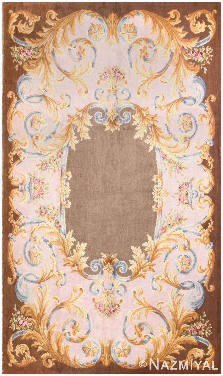 Antique Savonnerie French Rug 50184 Detail/Large View