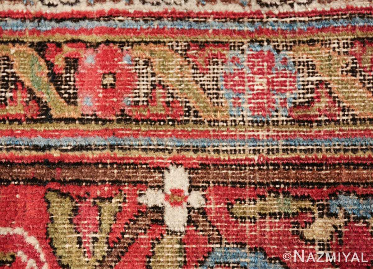 antique shabby chic persian khorassan carpet 50017 flower Nazmiyal