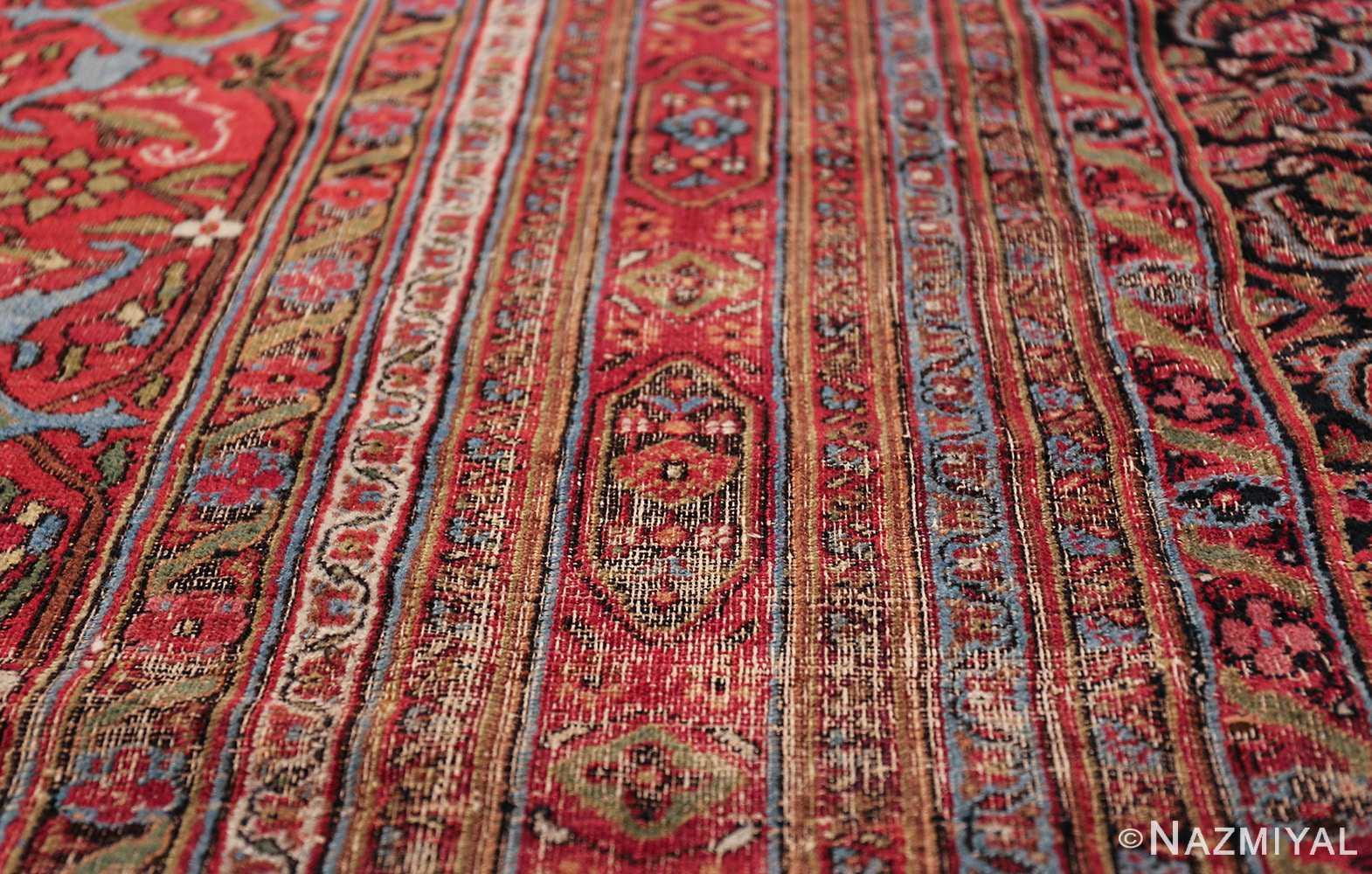 antique shabby chic persian khorassan carpet 50017 lines Nazmiyal