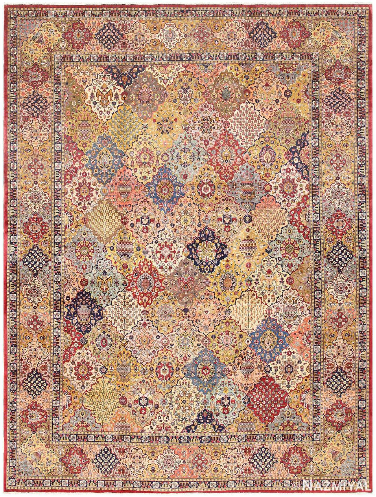Antique Tabriz Persian Carpet 50055 Nazmiyal