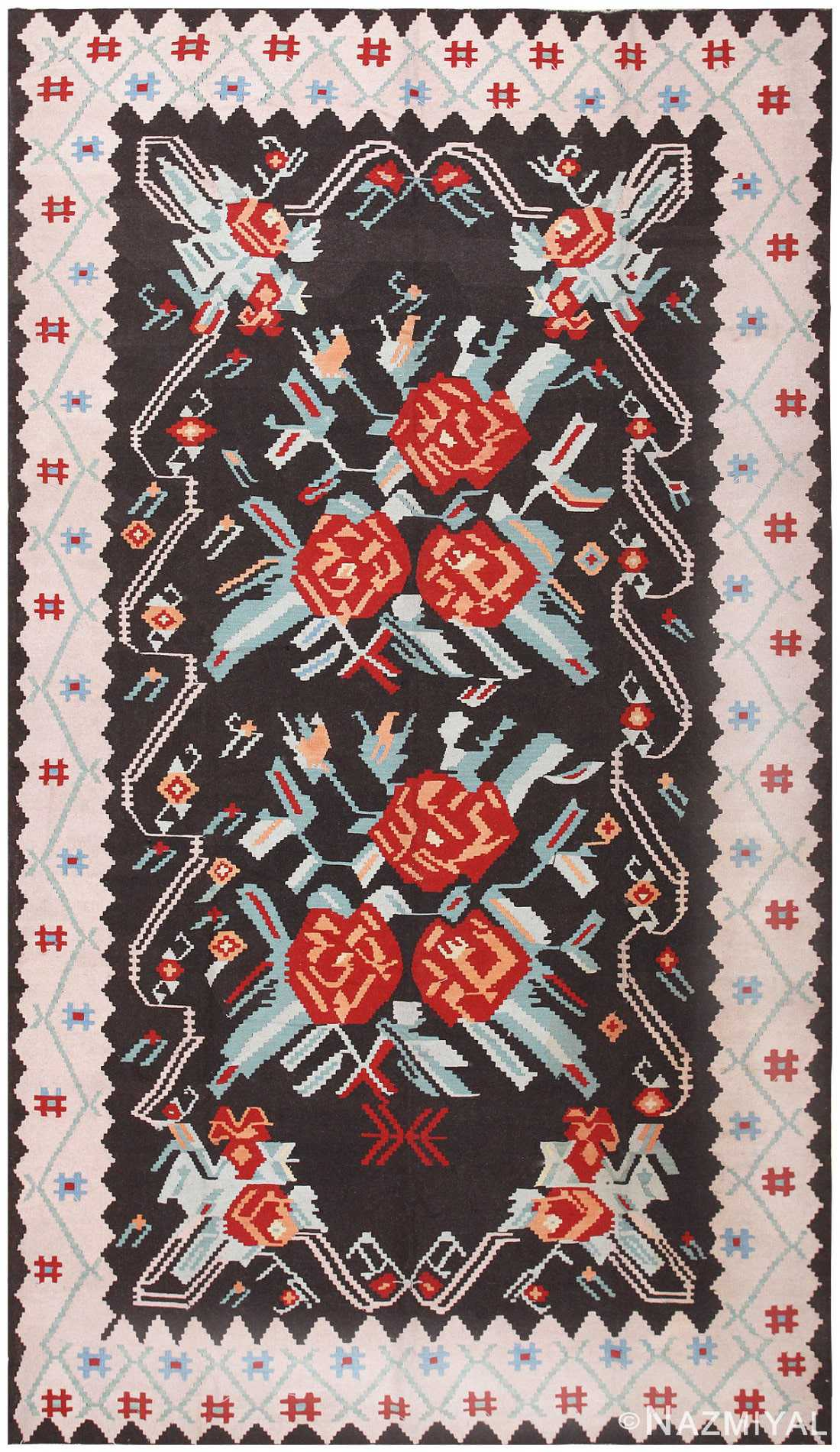 Antique Turkish Kilim 50170 Detail/Large View