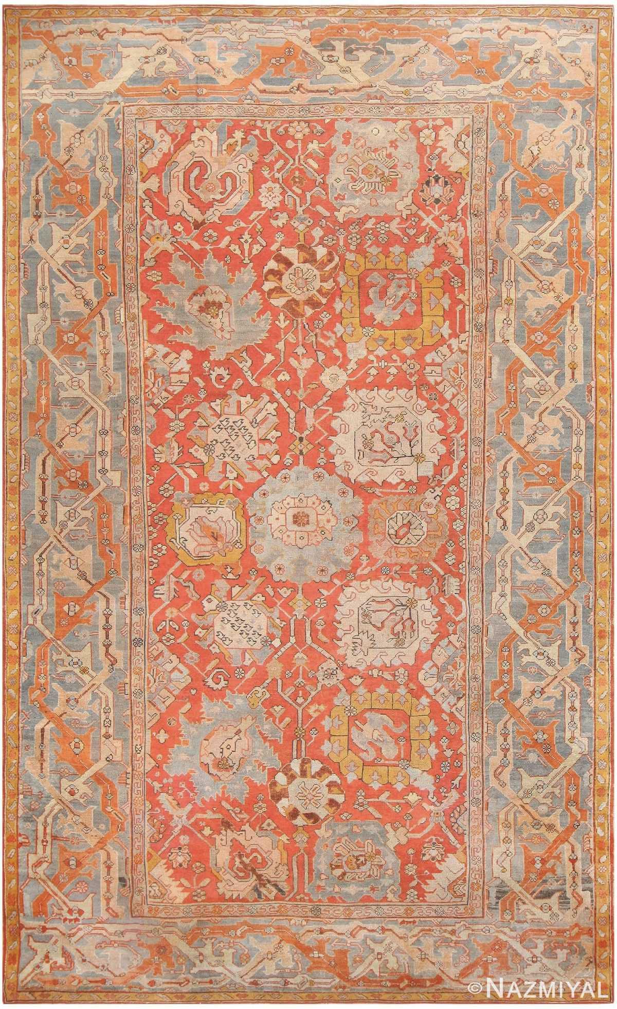 Antique Turkish Oushak Carpet 48127 Nazmiyal
