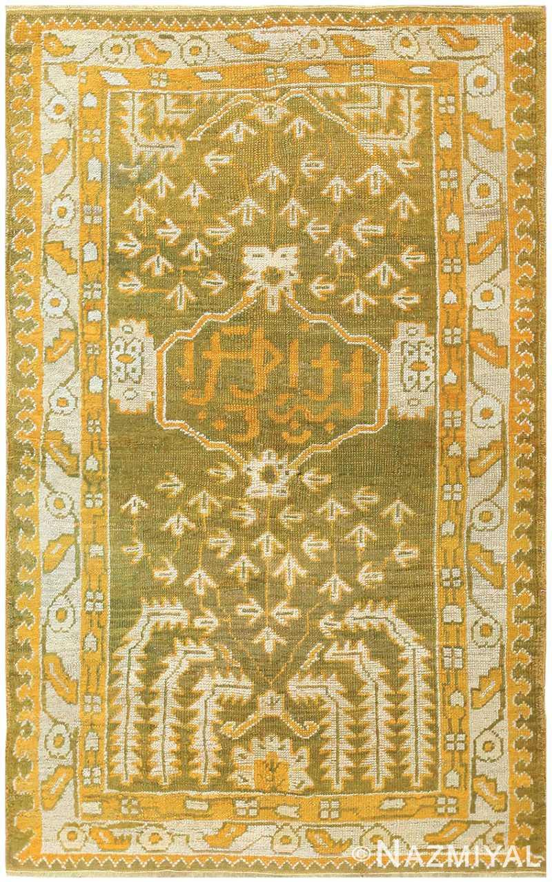 Antique Turkish Oushak Carpet 50038 Nazmiyal