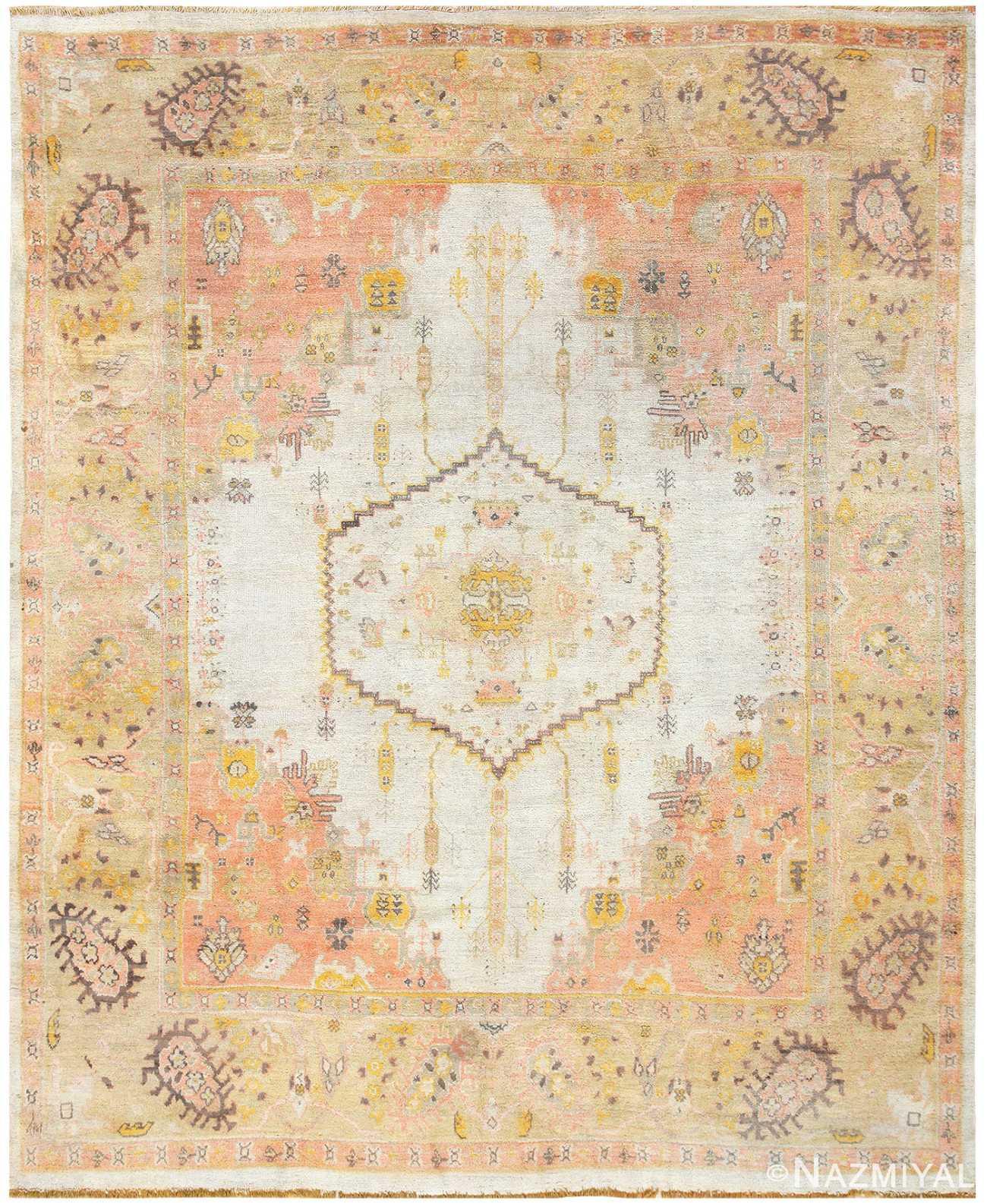 Antique Turkish Oushak Carpet 50071 Nazmiyal