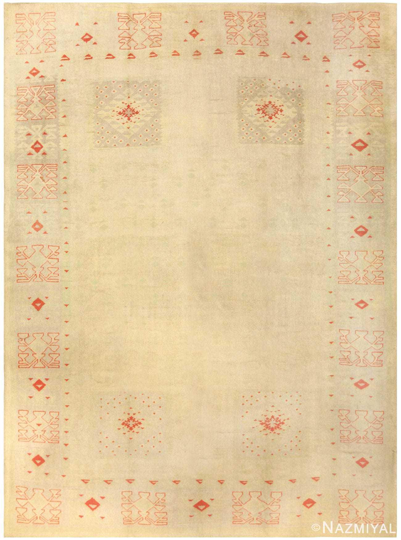 Antique Turkish Oushak Rug 50082 Detail/Large View