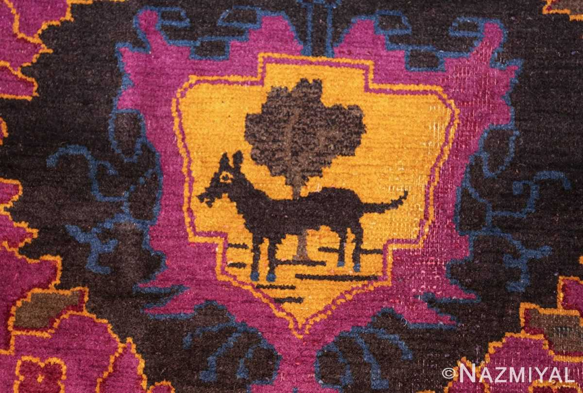 art deco chinese rug with dragon border 50101 center Nazmiyal