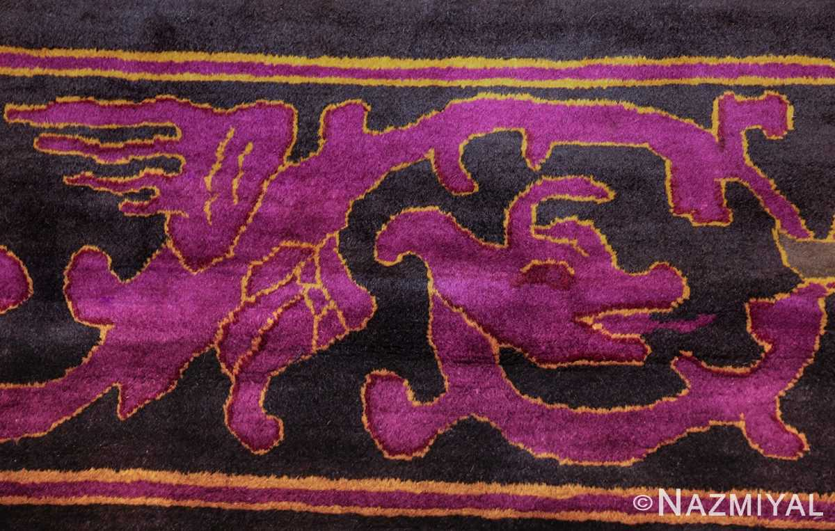 art deco chinese rug with dragon border 50101 head Nazmiyal