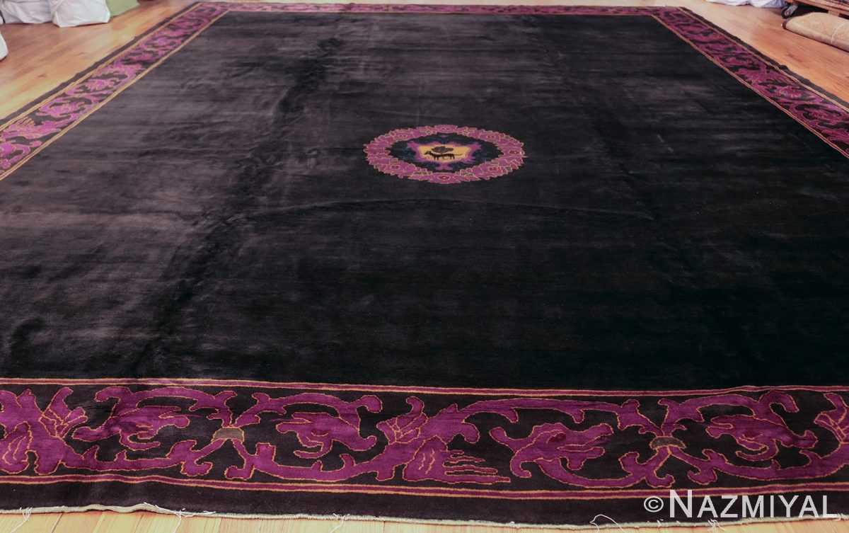 art deco chinese rug with dragon border 50101 whole Nazmiyal