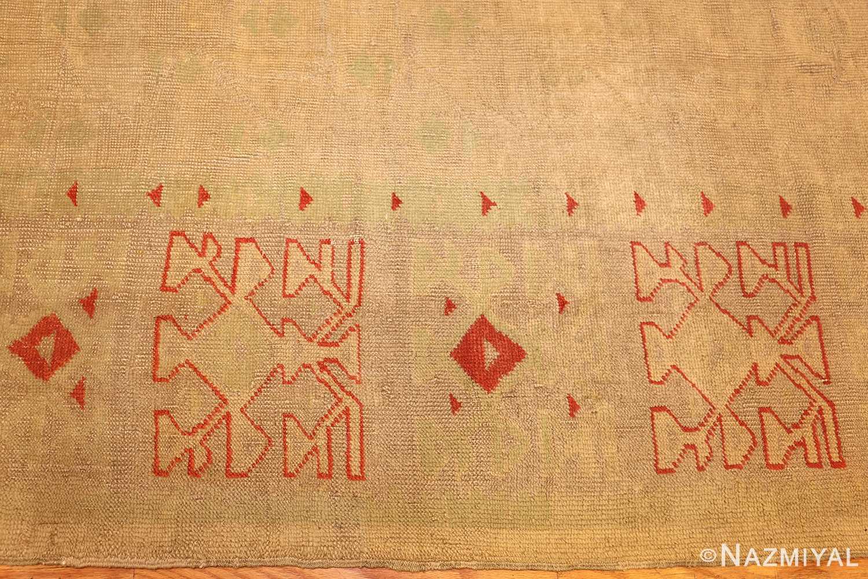 art deco turkish oushak rug 50082 border Nazmiyal