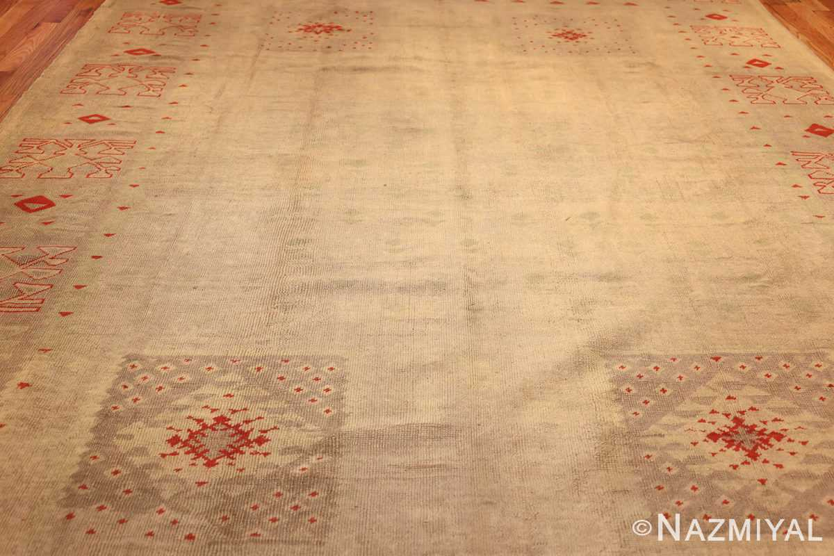 art deco turkish oushak rug 50082 field Nazmiyal