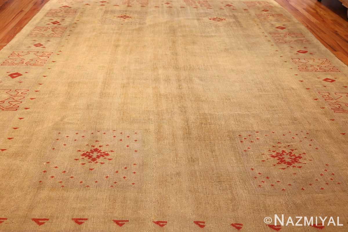 art deco turkish oushak rug 50082 full Nazmiyal