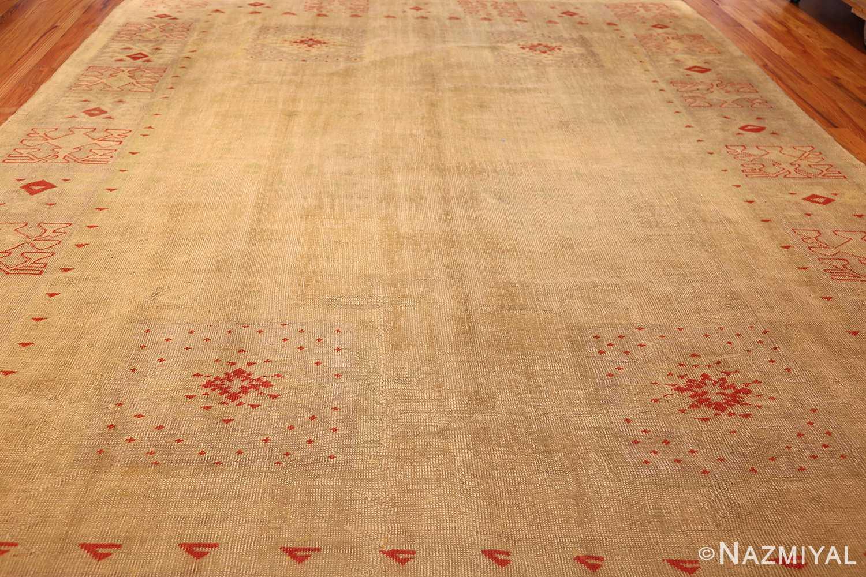 art deco turkish oushak rug 50082 full Nazmiyal