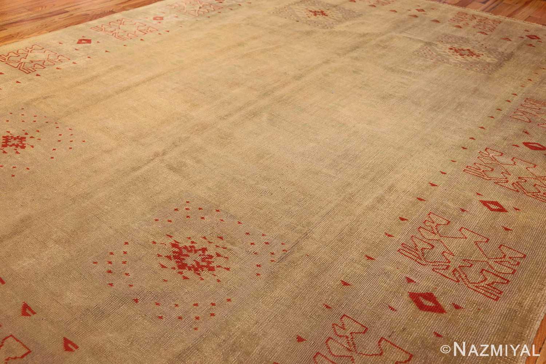art deco turkish oushak rug 50082 side Nazmiyal