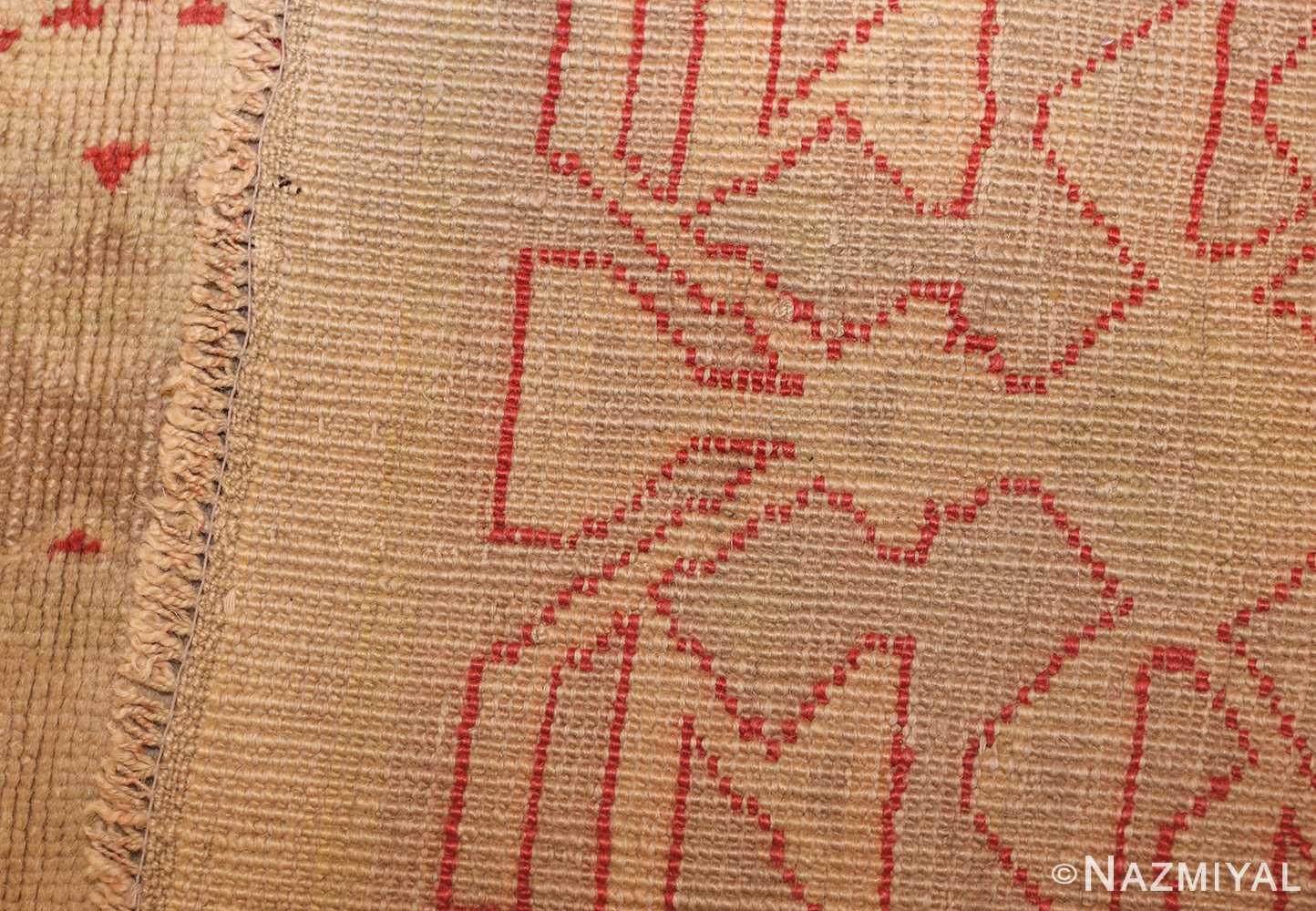 art deco turkish oushak rug 50082 weave Nazmiyal