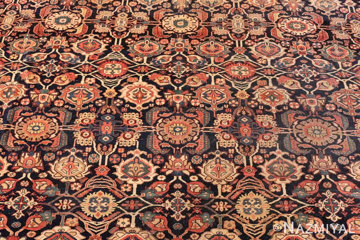 Background Antique room sized Persian Farahan carpet 50149 by Nazmiyal