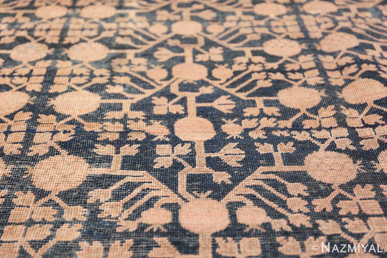 Blue Pomegranate Design Room Size Antique Khotan Rug 50094 Closer Look Nazmiyal