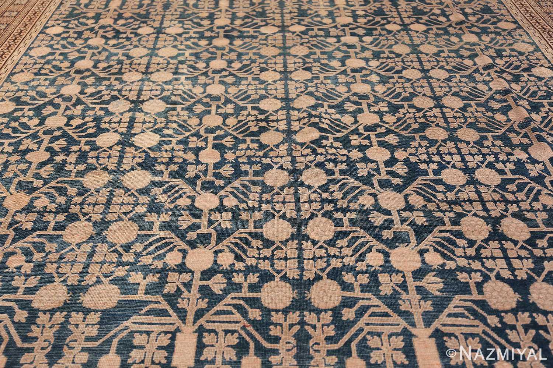 Blue Pomegranate Design Room Size Antique Khotan Rug 50094 Field Design Nazmiyal