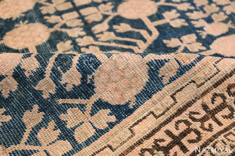 Blue Pomegranate Design Room Size Antique Khotan Rug 50094 Geometric Pile Nazmiyal