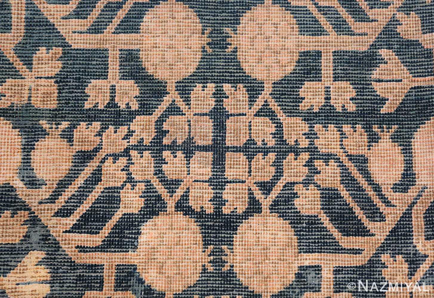 Blue Pomegranate Design Room Size Antique Khotan Rug 50094 Leaves Branches Nazmiyal