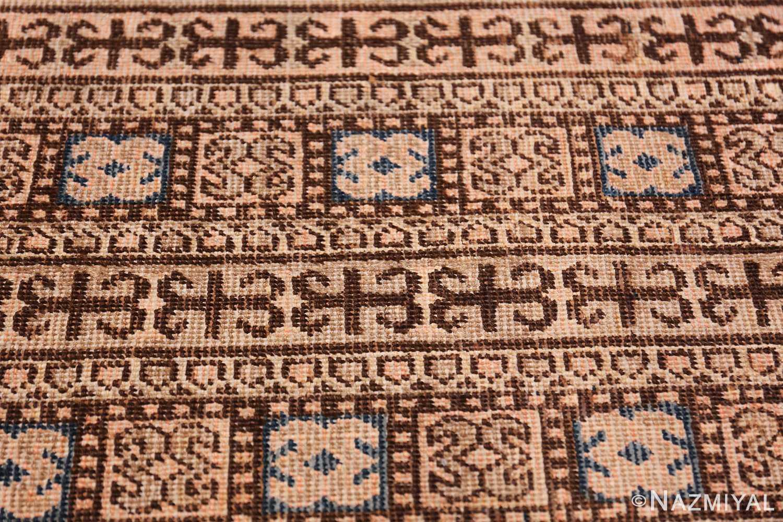 Blue Pomegranate Design Room Size Antique Khotan Rug 50094 Wide Border Pattern Nazmiyal