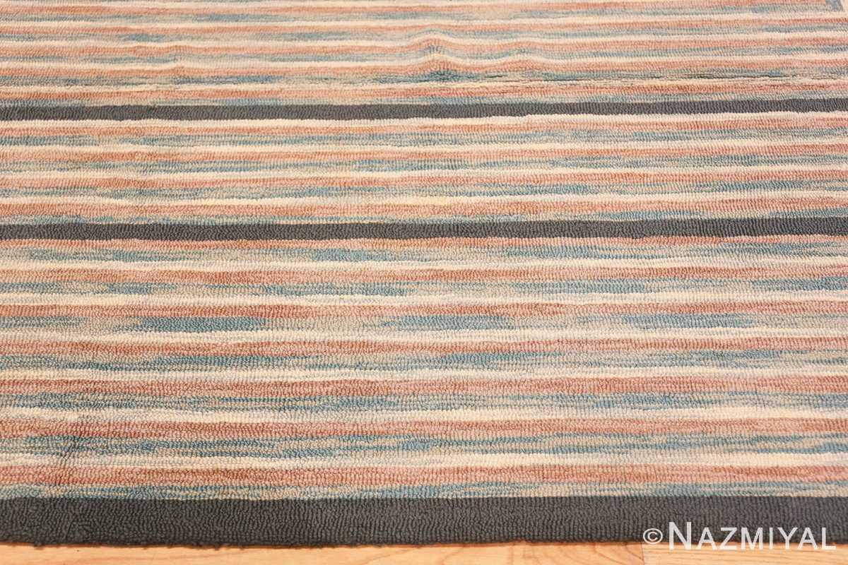 Border Antique American hooked rug 50054 by Nazmiyal