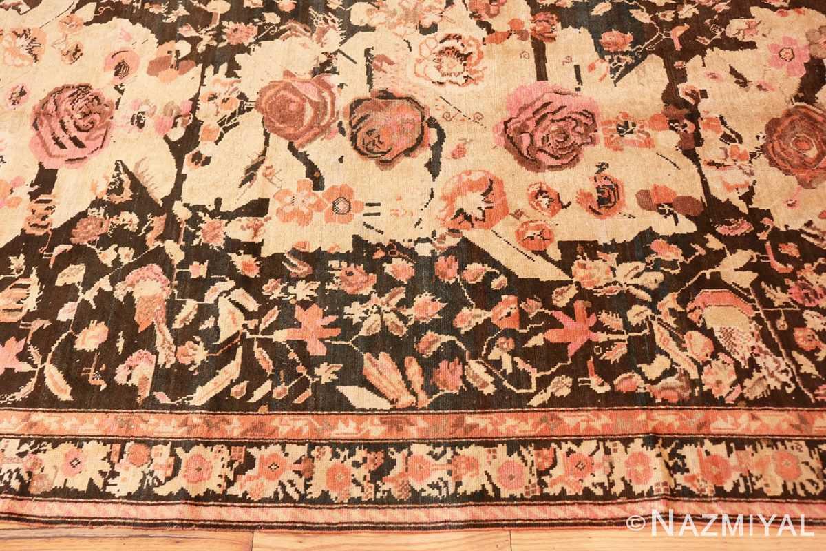 Border Antique Caucasian Karabagh runner rug 50028 by Nazmiyal