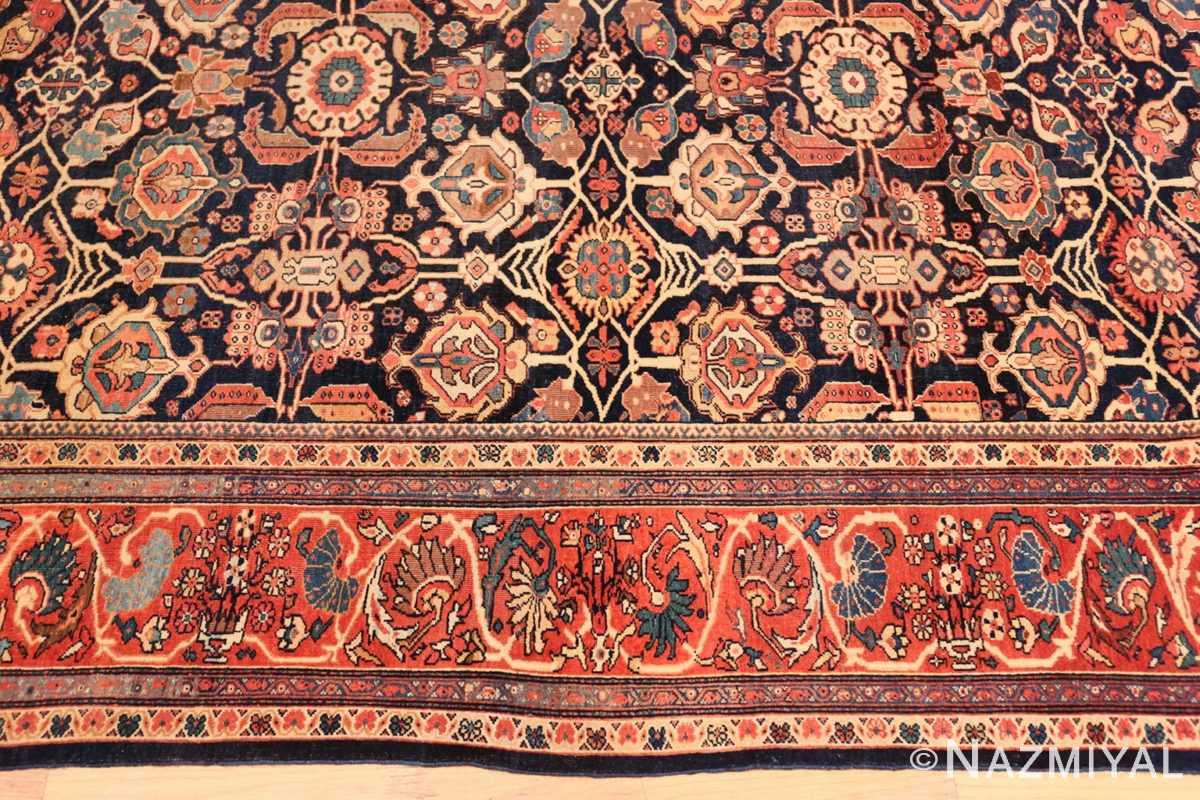 Border Antique room sized Persian Farahan carpet 50149 by Nazmiyal