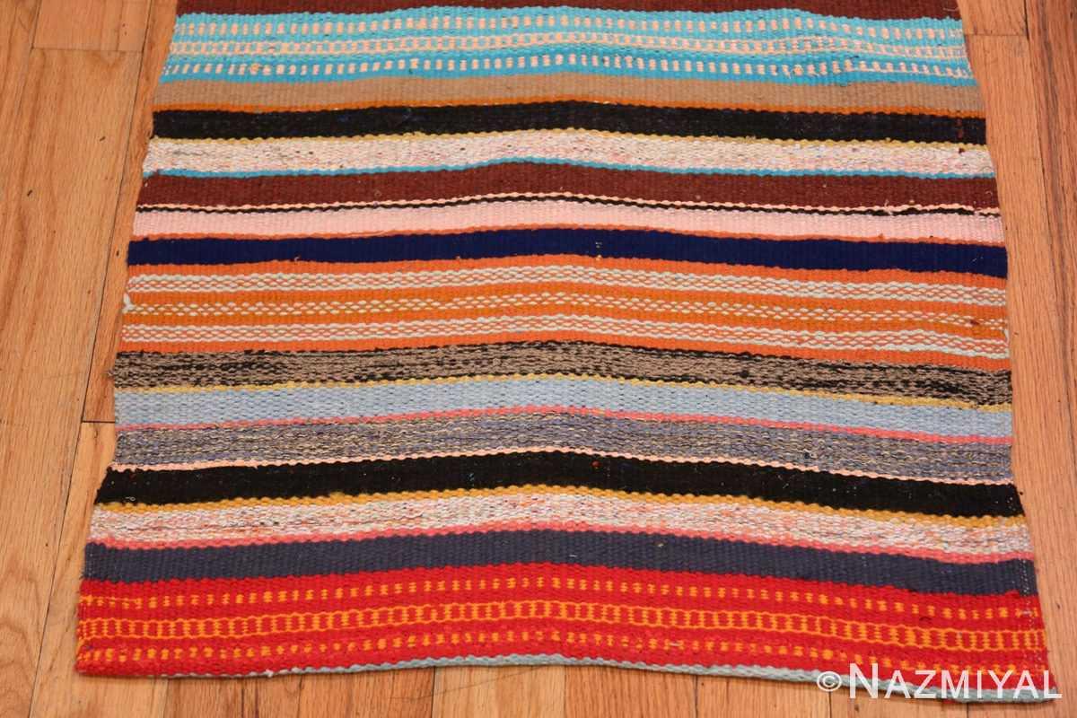 Border Vintage Swedish rag rug 46667 by Nazmiyal