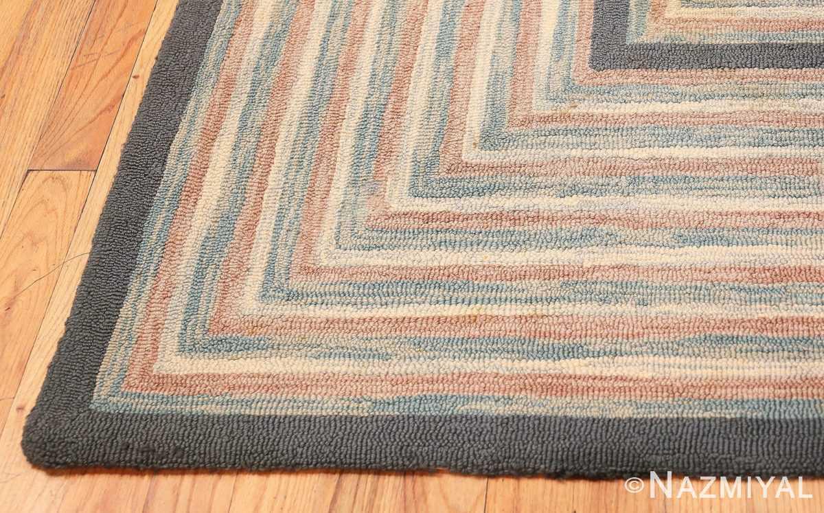 Corner Antique American hooked rug 50054 by Nazmiyal