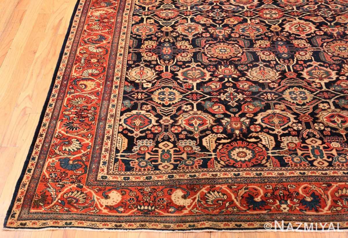 Corner Antique room sized Persian Farahan carpet 50149 by Nazmiyal