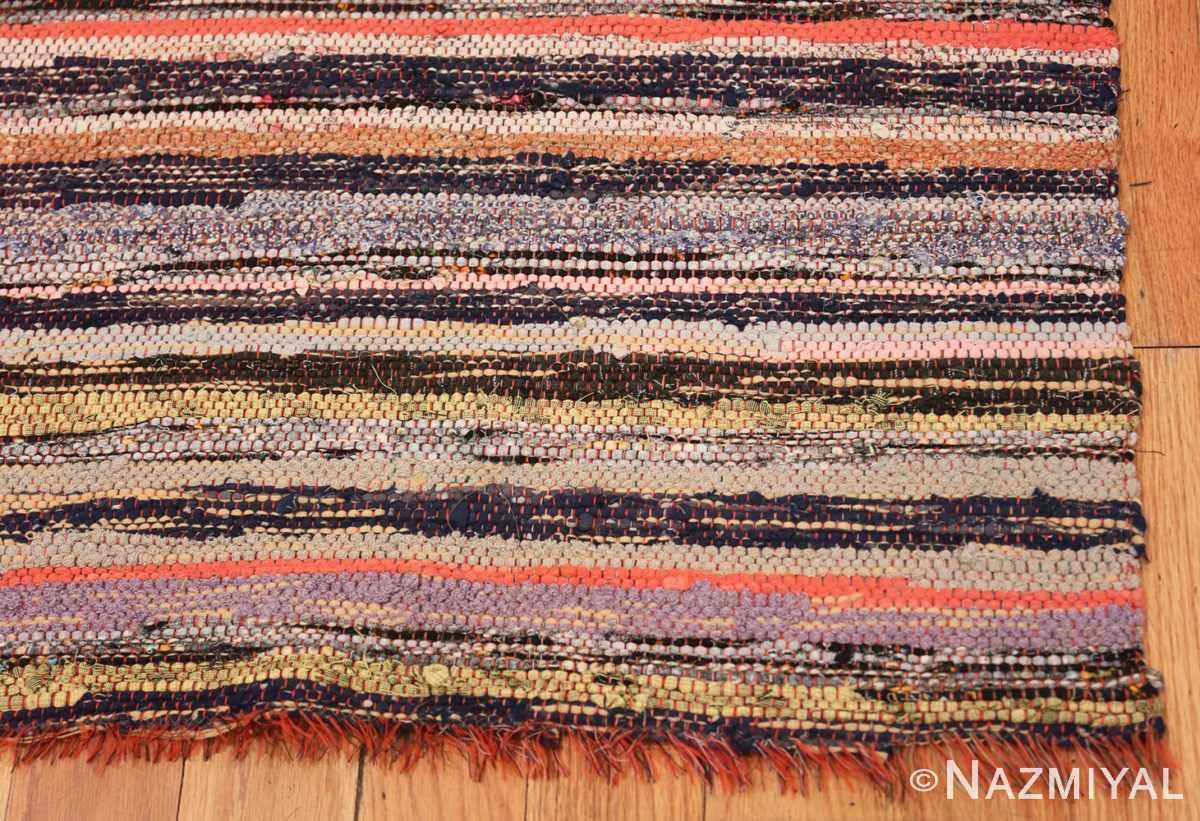 Corner Vintage Swedish rag rug 46660 by Nazmiyal
