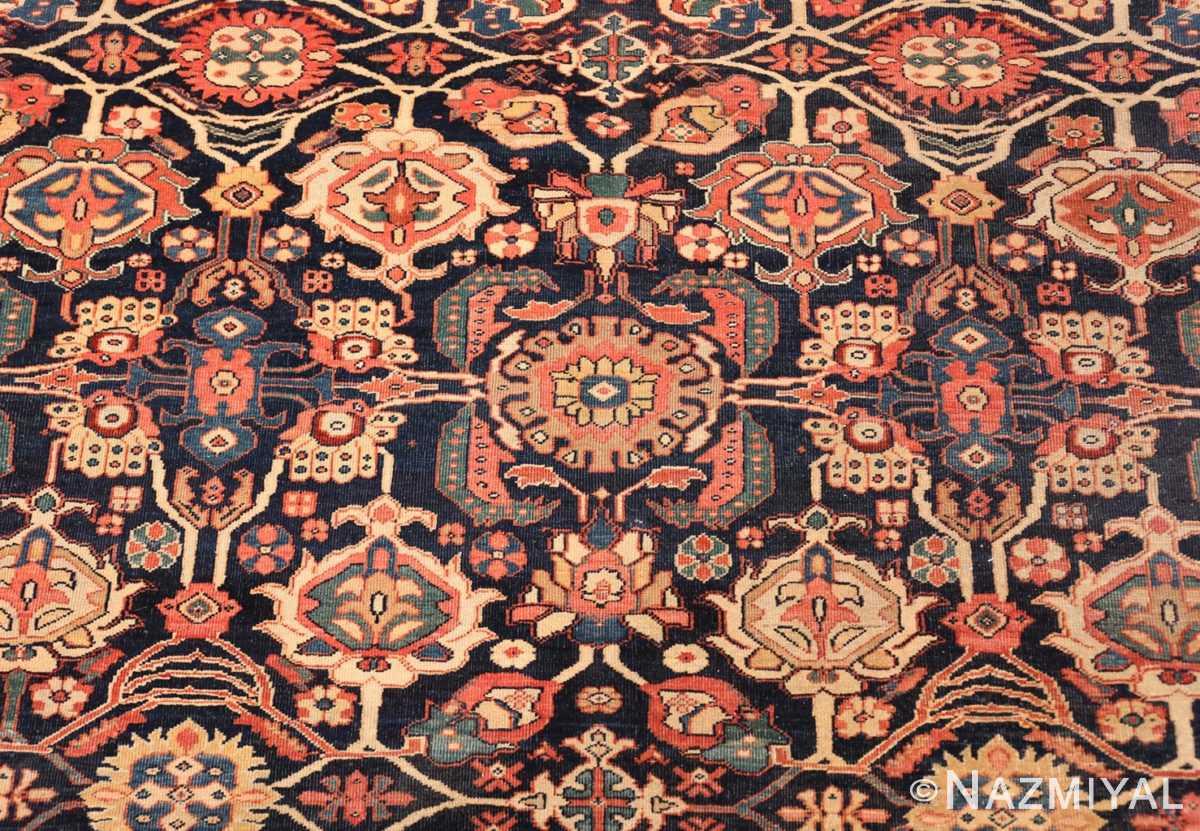 Detail Antique room sized Persian Farahan carpet 50149 by Nazmiyal