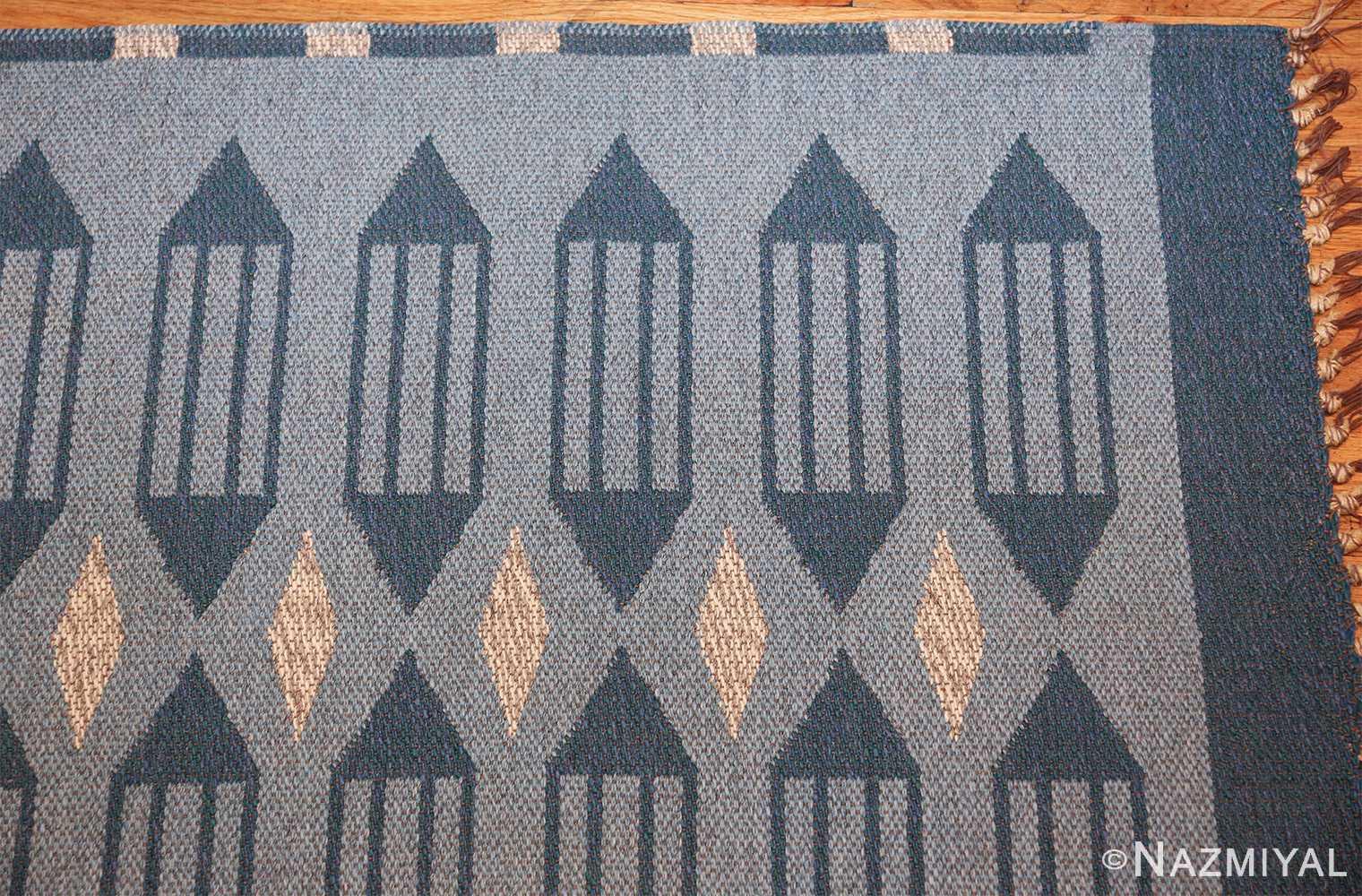 double sided vintage swedish carpet 48449 corner Nazmiyal