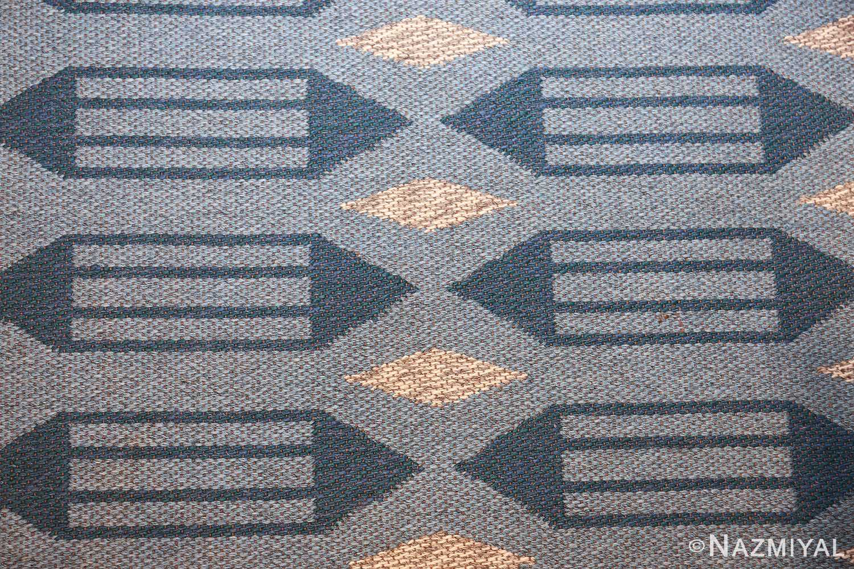 double sided vintage swedish carpet 48449 field Nazmiyal