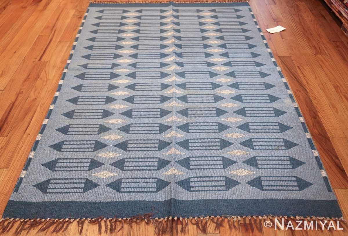 double sided vintage swedish carpet 48449 whole Nazmiyal