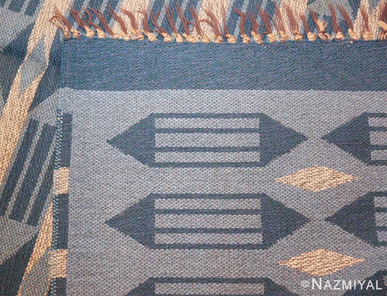 double sided vintage swedish carpet 48449 back Nazmiyal