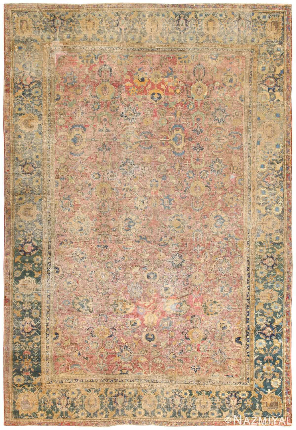 Early 17th Century Persian Isfahan Carpet 50160 Nazmiyal