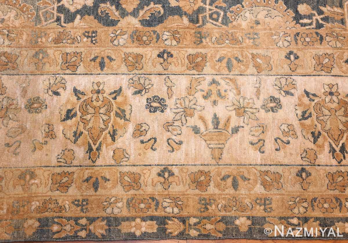 extra large oversized light blue antique persian kerman rug 48226 border Nazmiyal