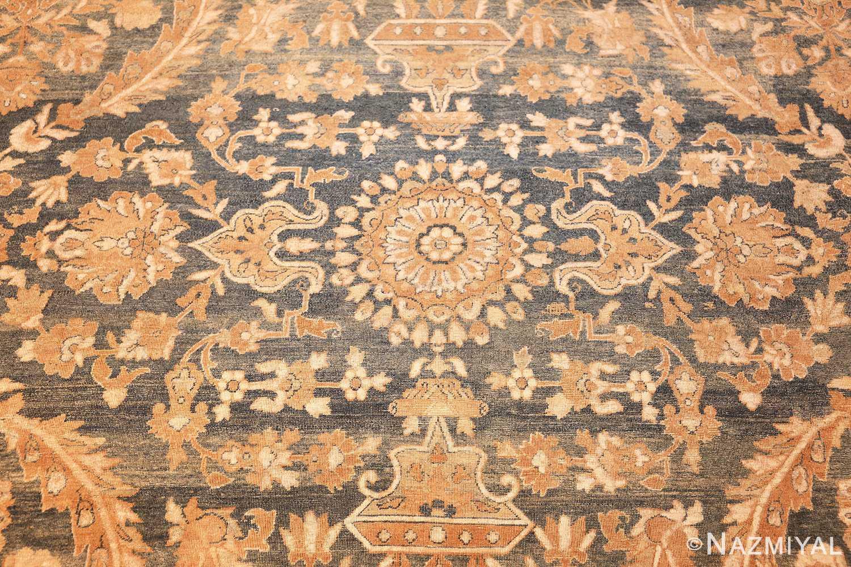 extra large oversized light blue antique persian kerman rug 48226 detailed Nazmiyal