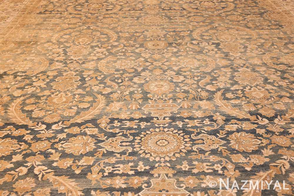 extra large oversized light blue antique persian kerman rug 48226 field Nazmiyal