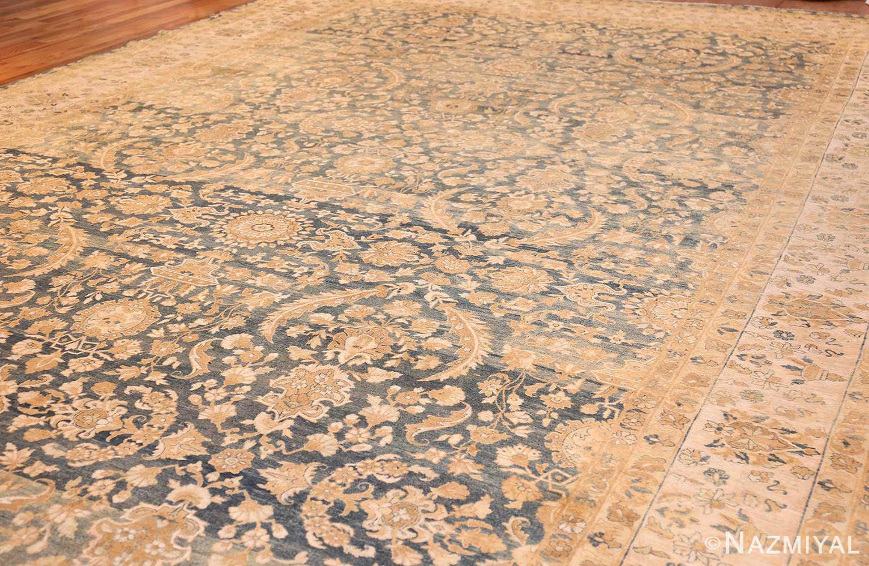extra large oversized light blue antique persian kerman rug 48226 side Nazmiyal