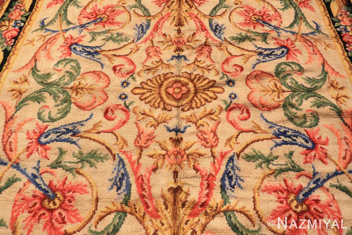 Field Antique Spanish savonnerie rug 46823 by Nazmiyal Antique rugs