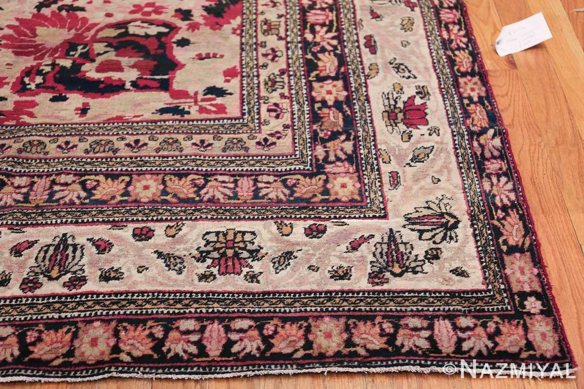 Fine Antique 19th Century Persian Kerman Rug 50146 Side Corner Nazmiyal