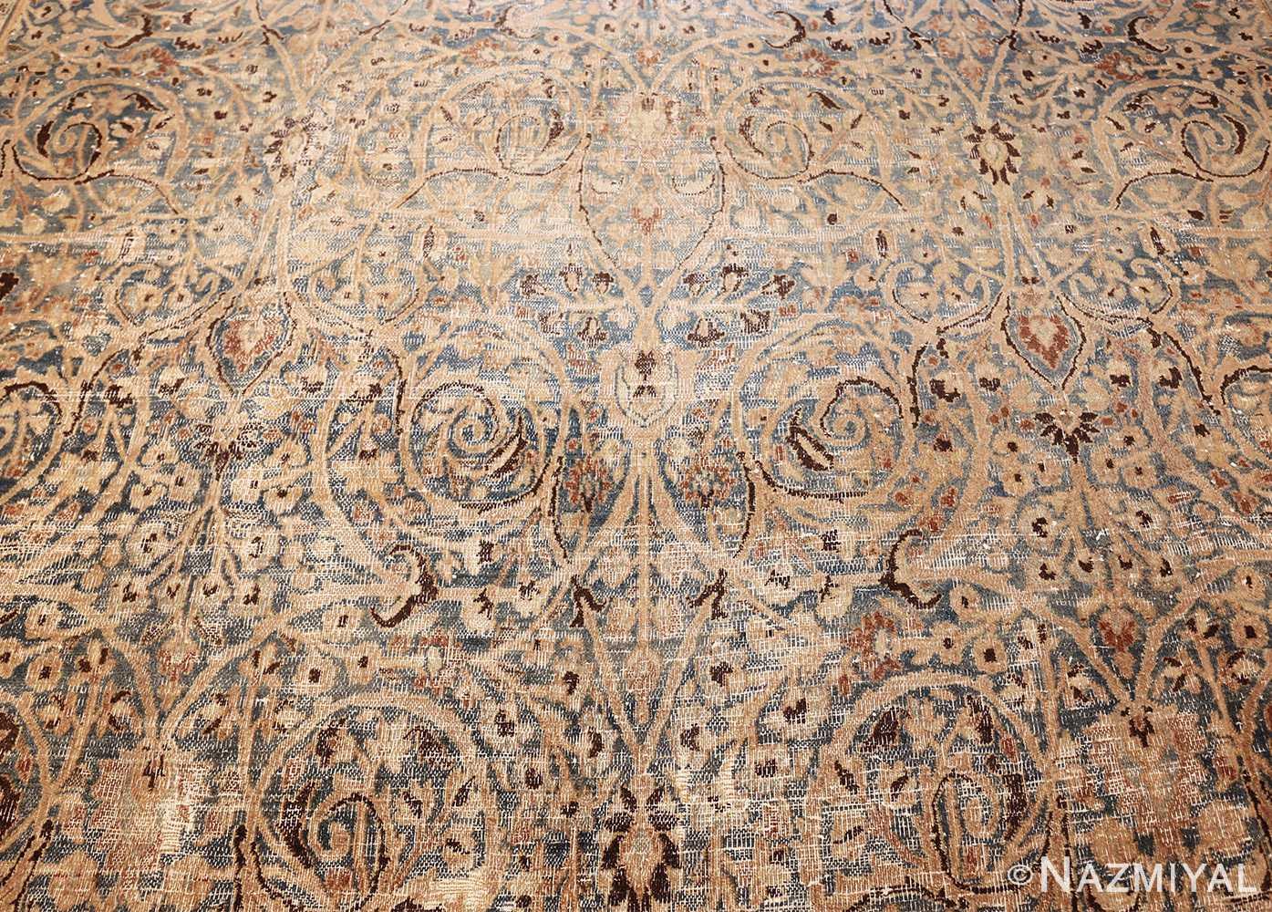 fine decorative antique shabby chic persian khorassan carpet 48404 dark field Nazmiyal