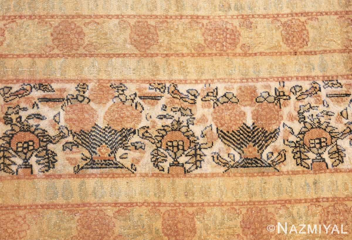 fine persian tehran room size antique carpet 50189 closeup Nazmiyal