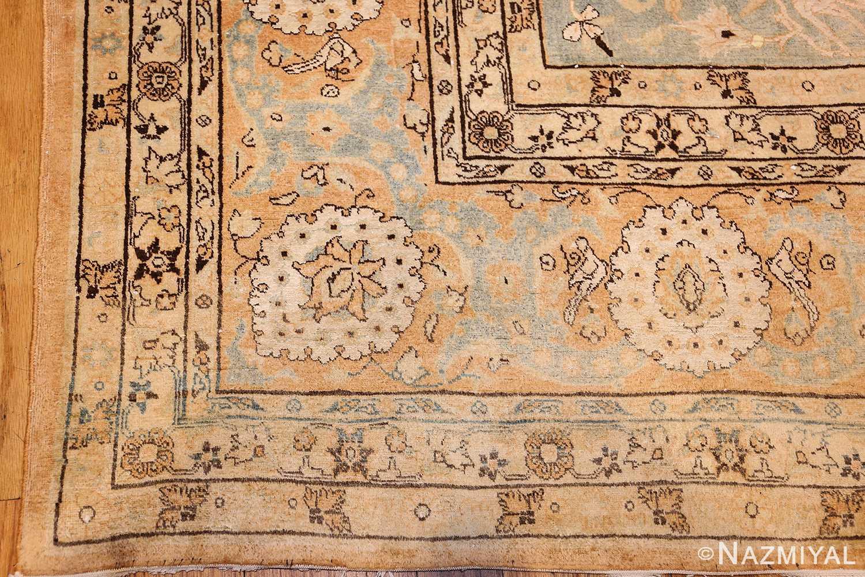 fine silk and wool antique persian tehran rug 48249 corner Nazmiyal