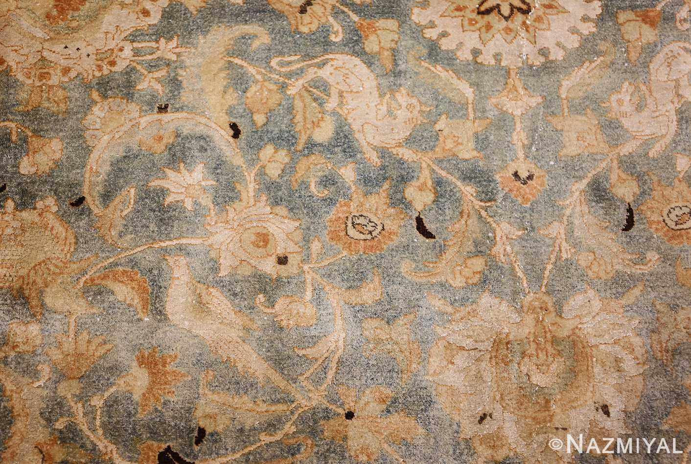 fine silk and wool antique persian tehran rug 48249 design Nazmiyal
