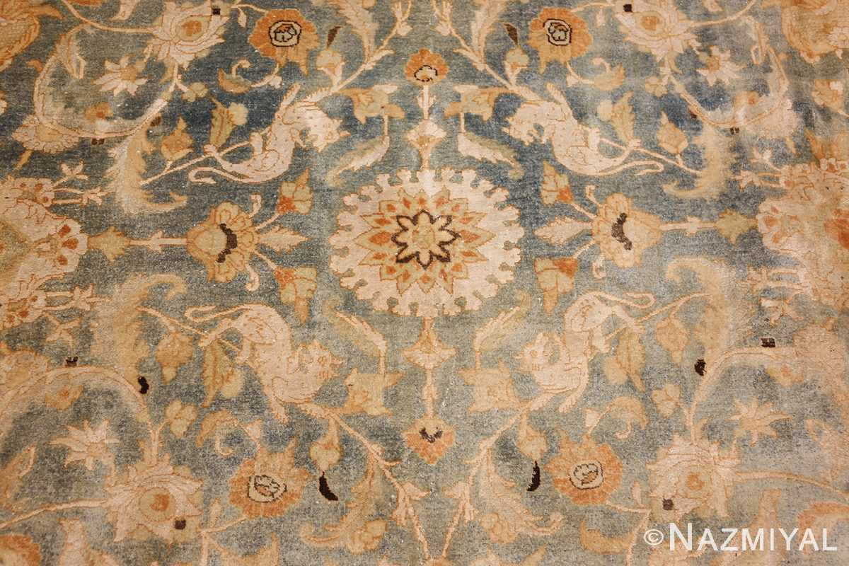 fine silk and wool antique persian tehran rug 48249 field Nazmiyal